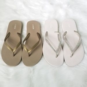 J. Crew Bundle Flip Flop Sandals size 7 8